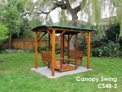 Canopy Swing & Gazebos and Garden Structures - Canopy Swing - Classic Cedar
