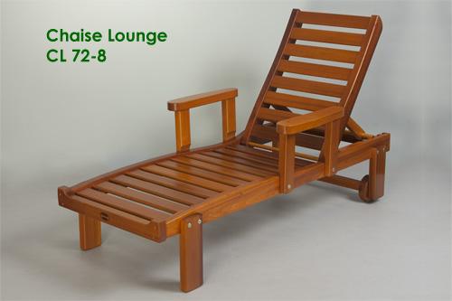 Chaise Lounge reclining chair Classic Cedar