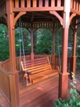 Porch Swing in a gazebo