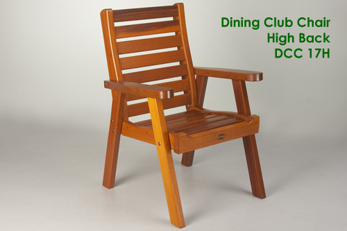 Garden Furniture Victoria Bc dining club patio chair high back - outdoor chair - classic cedar