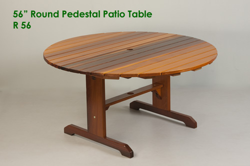 Large Round Pedestal Patio Table - Outdoor Table - Classic Cedar