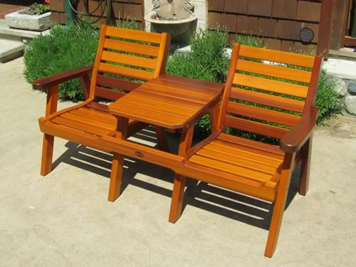 classic cedar club chair with ottoman tete a tete chairs and table - Garden Furniture Victoria Bc